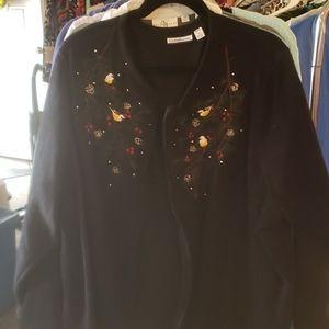 Christmas zippered sweatshirt
